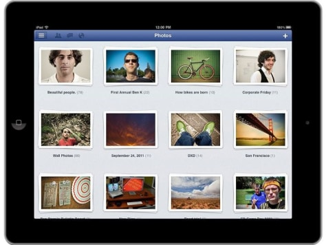 Image: Facebook for iPad app